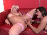 Porn Stars Jeny and Britney acts of lesbianism